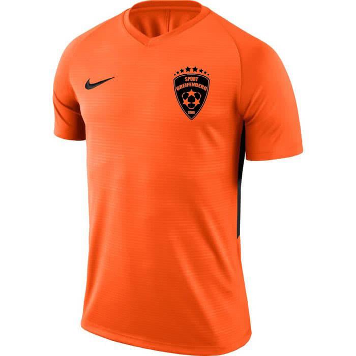 Nike Trikot in orange mit schwarzen Aufdruck