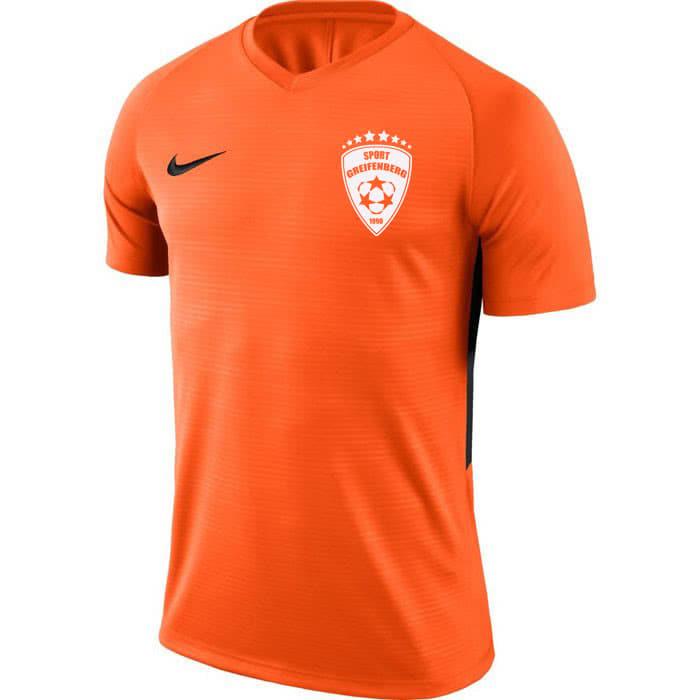 Das Nike Trikot in orange mit weißem Aufdruck