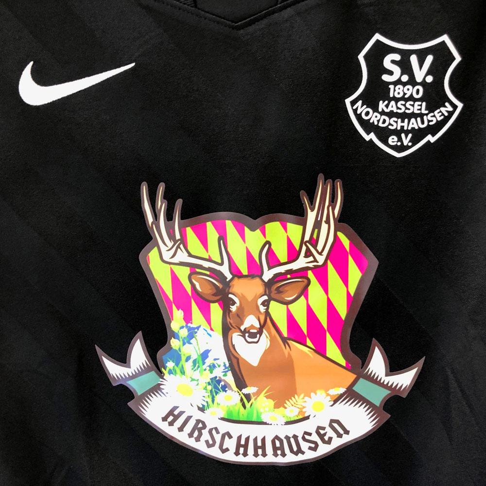Die Nike Trikot Werbung in Farbe bei den SV Nordshausen Trikots