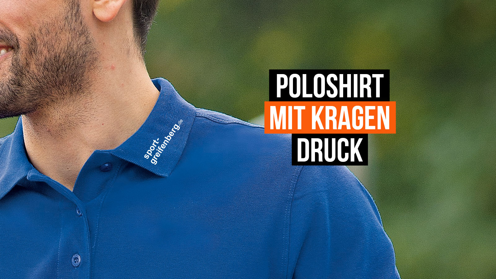 Jetzt Poloshirt auf dem Kragen bedrucken und bestellen