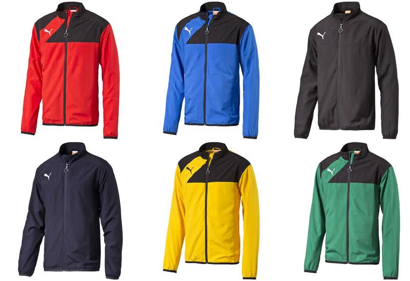 c83fda8112b61 Die Puma Esquadra Polyesterjacke und Präsentationsjacke gibt es in 6 Farben