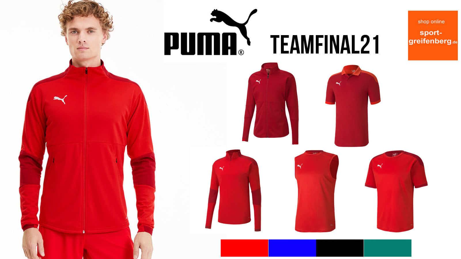 Die Puma Teamfinal 21 Linie im Katalog 2020 und 2021