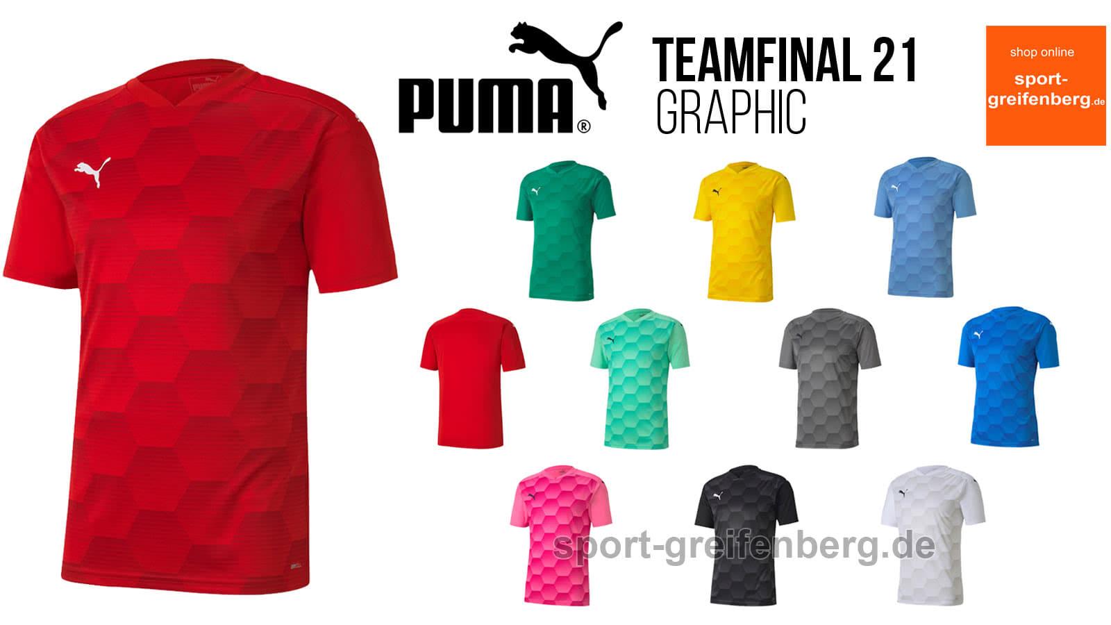 Das puma teamfinal 21 graphic trikot für 2020 und 2021