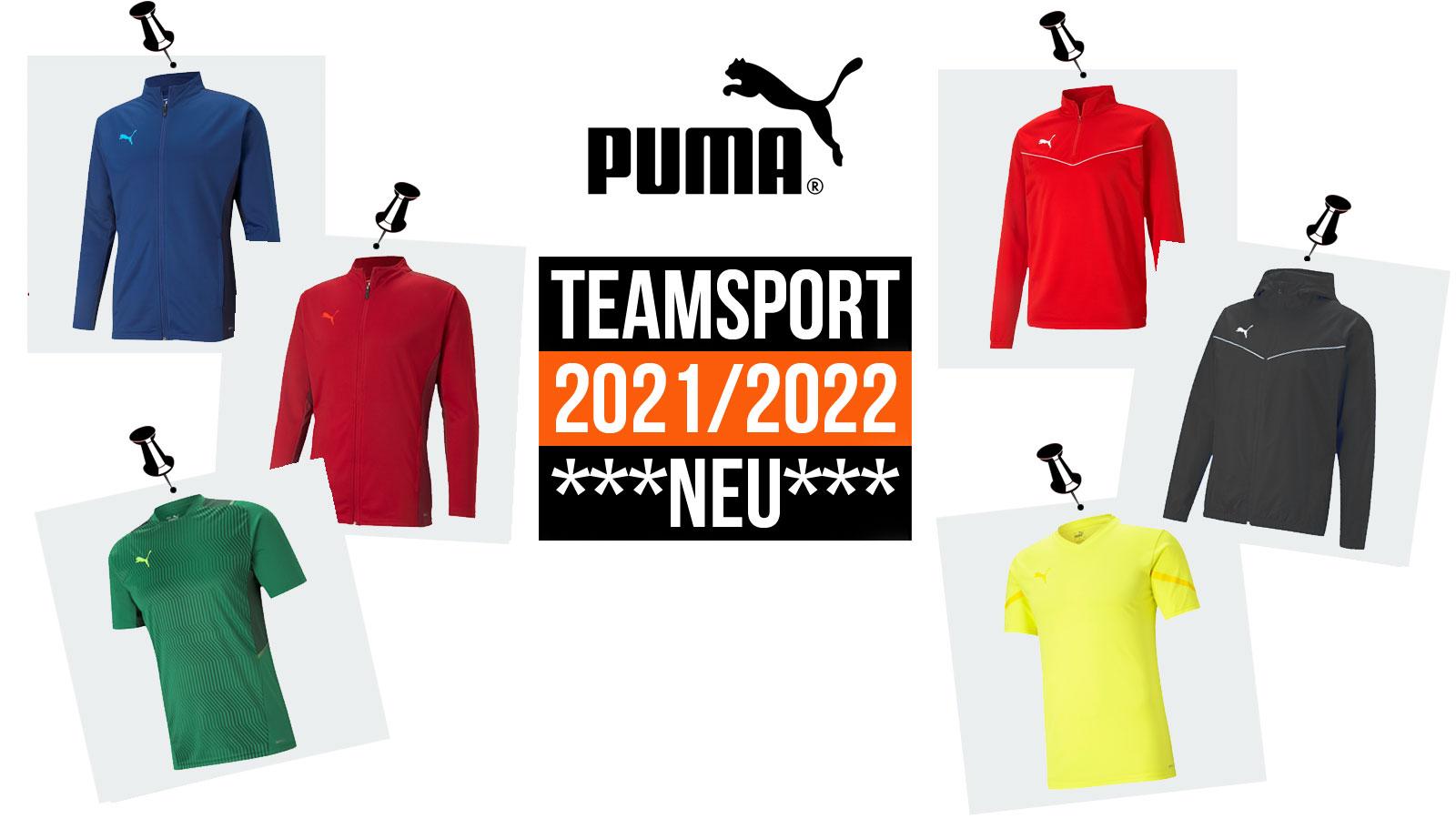 Puma Teamsport 2021/2022 mit teamrise und teamcup