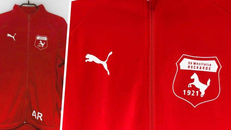 Die Puma Trainingsjacke mit dem Aufdruck des SV Westfalia Huckarde