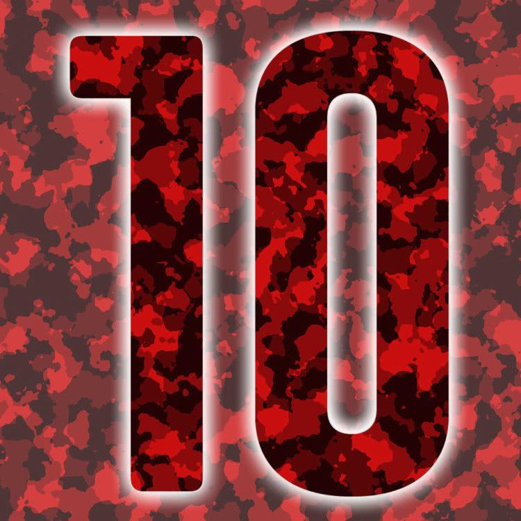 Rückennummern: rot Trikot Nummern in Camouflage
