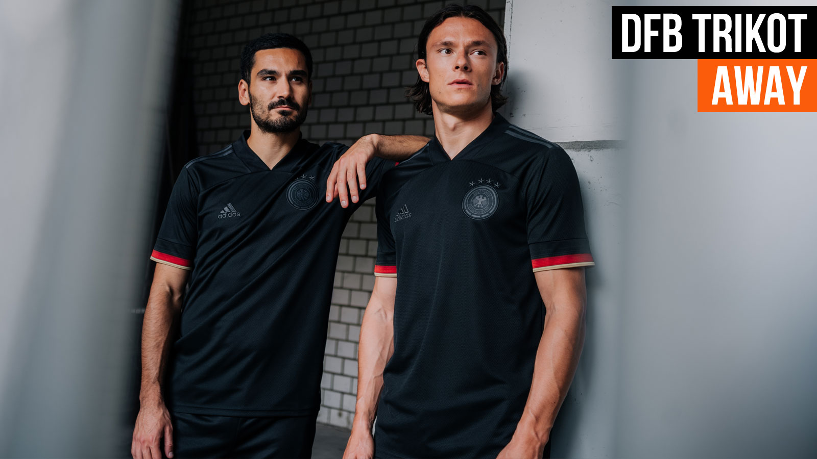 das schwarze Deutschland Trikot von adidas für die EM 2021