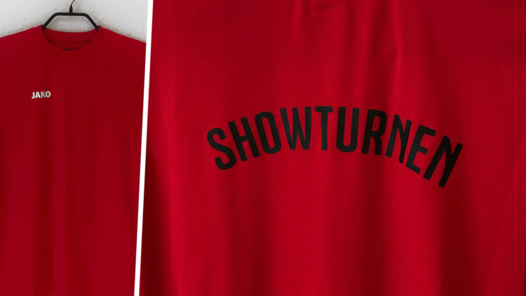 Showturnen Shirts mit aufdruck