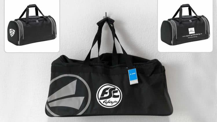 Die Sporttaschen mit Vereinsaufdruck