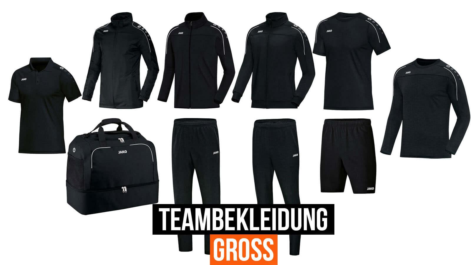Die Teambekleidung groß lässt keine Wünsche mehr offen.