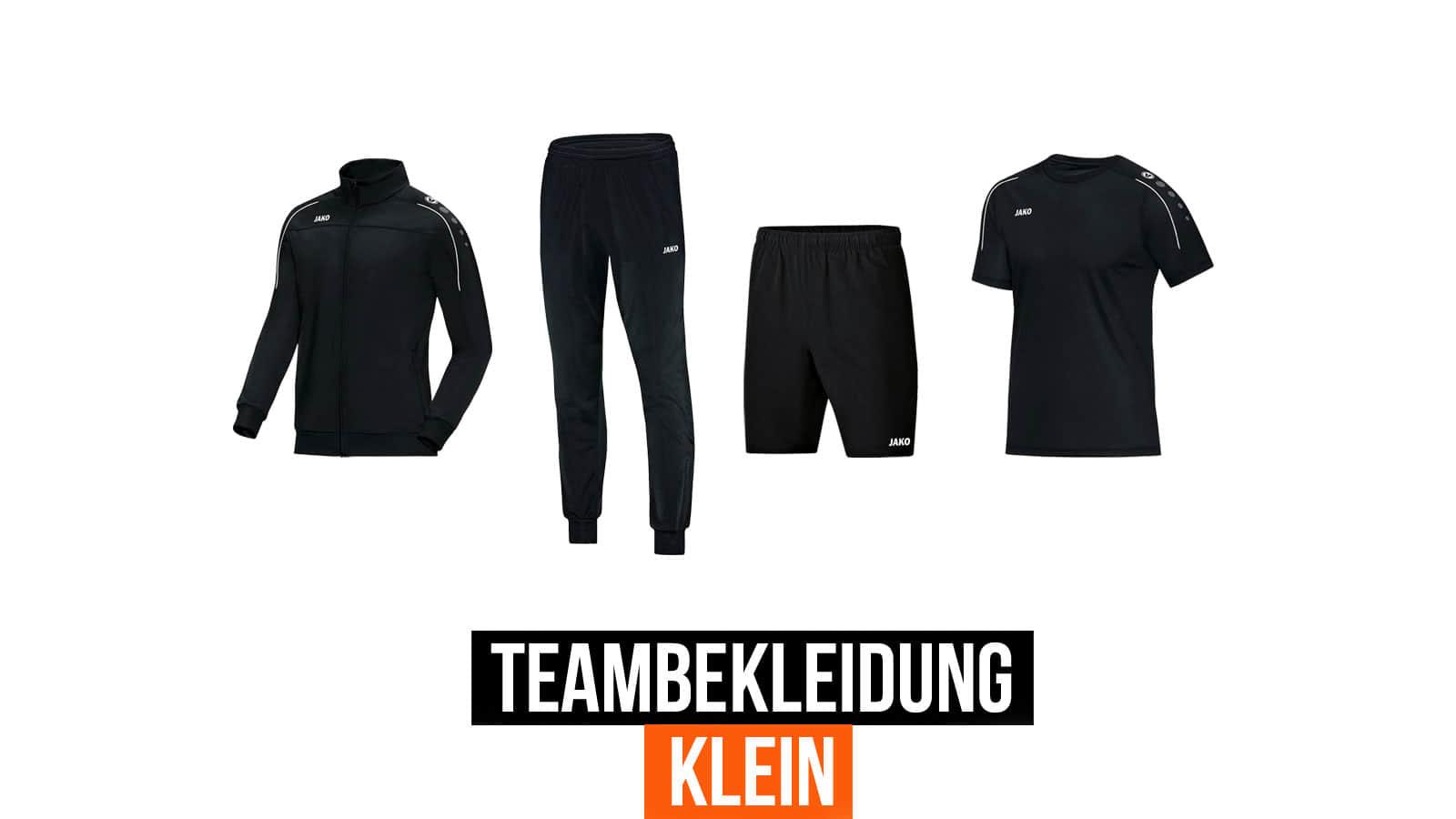 Die kleine Teambekleidung zum besonders günstigen Preis mit nur einem Trainingsanzug