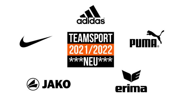 Teamsport 2021/2022 der Marken adidas, nike, puma, jako und erima