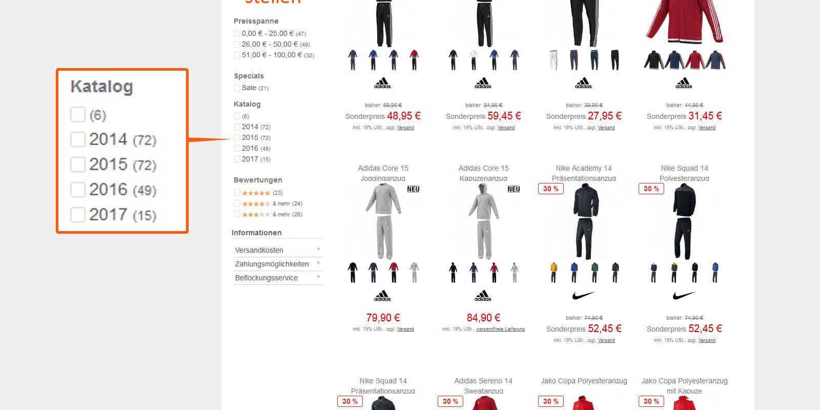 Für Vereine Teamsport Katalog Laufzeiten Im Shop Sportartikel Und