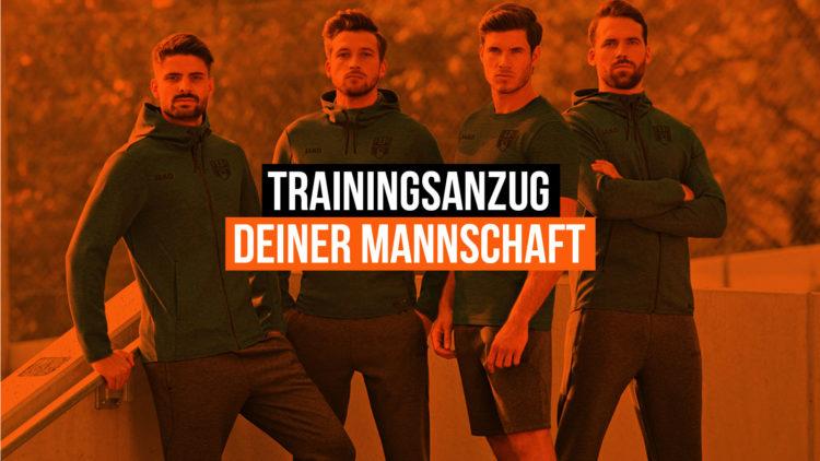 Der Trainingsanzug deiner Mannschaft oder des ganzen Vereins