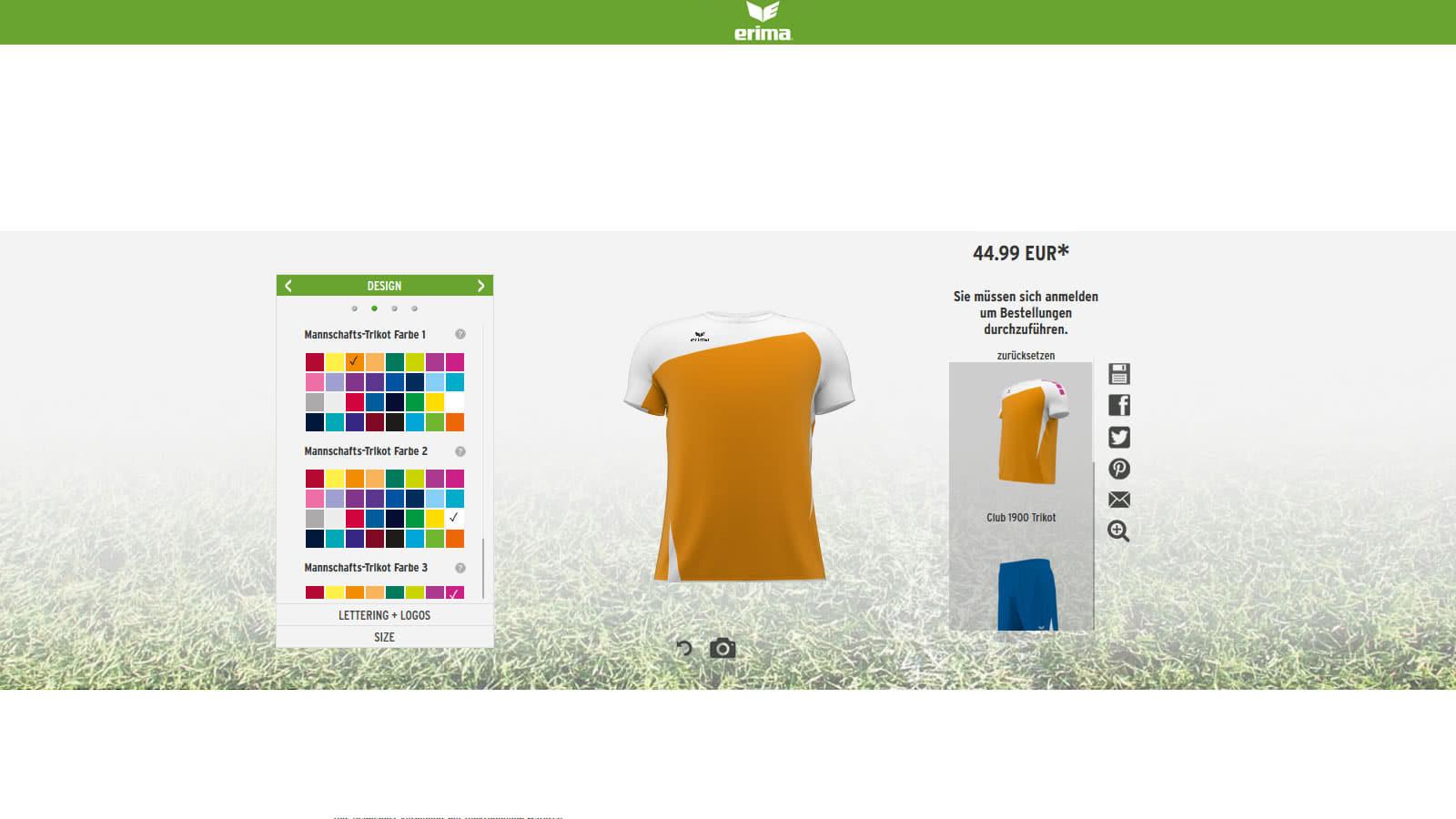 myerima.de - trikotsatz konfiguration und bestellung bei sport