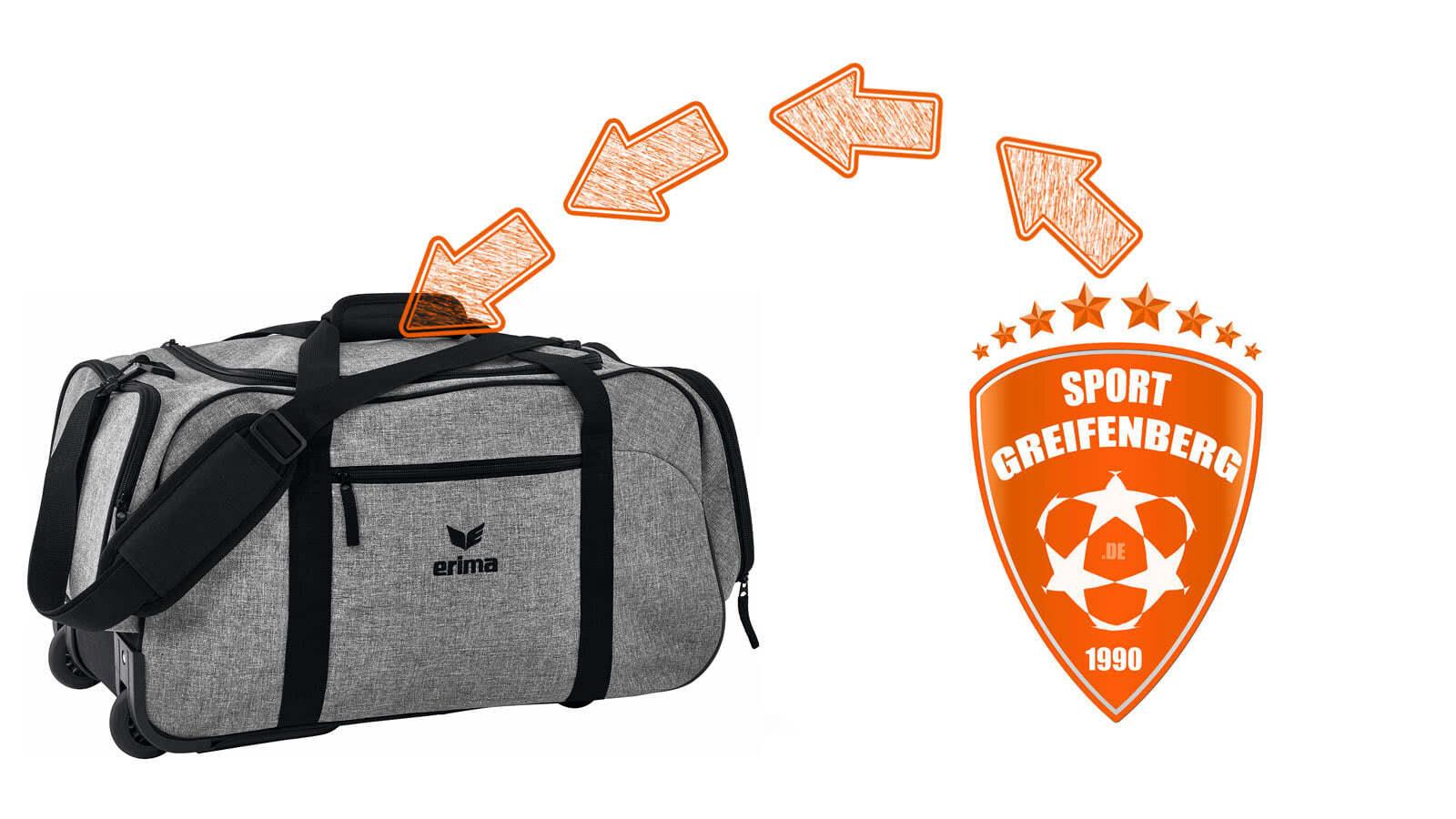 Jetzt die Sporttaschen mit Sporttaschen mit Vereinslogo bedrucken