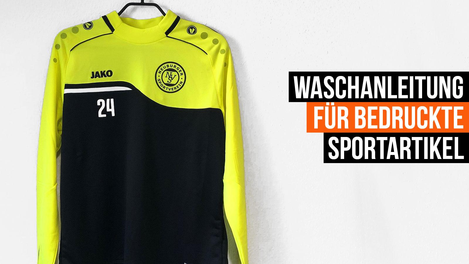 die Waschanleitung für bedruckte Sportbekleidung und Sportartikel