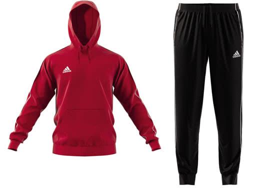 Die adidas Core 18 Kapuzen Trainingsanzug und Jogging reudziert kaufen