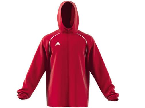 adidas Core 18 Regenjacke in schwarz, marine und rot im Shop kaufen