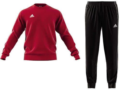 Die adidas Core 18 Sweatanzug und Joggingangug günstig im Sport Shop kaufen