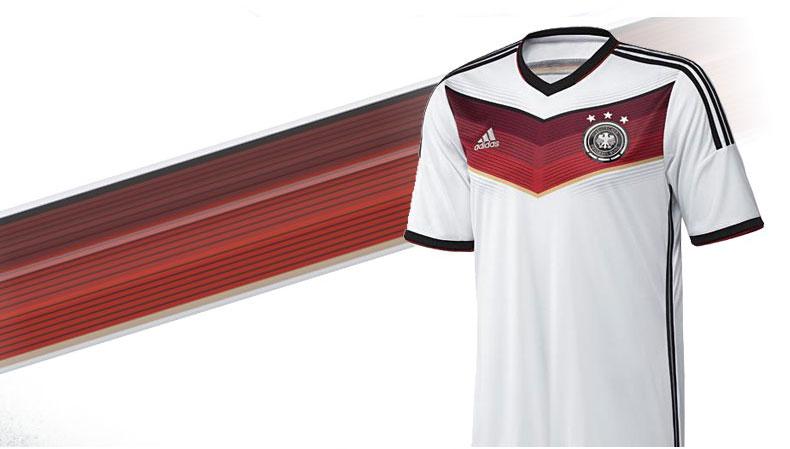 Das Deutschland Trikot WM 2014 aus der Adidas DFB Trikot Kollektion