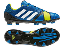 Die Adidas Nitrocharge 1.0 TRX FG Fußballschuhe im blue beauty Design