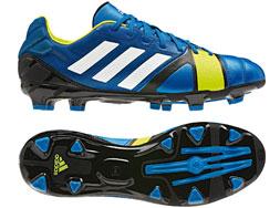 Die Adidas Nitrocharge 2.0 TRX FG im blauen Design als Fußballschuhe