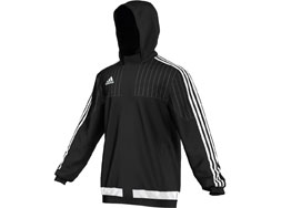 Die Adidas Tiro 15 Stadium Jacket als Stadionjacke und Coachjacke im Teamline Look