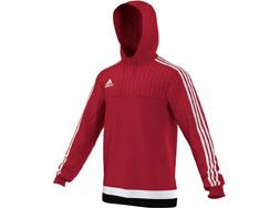 Das Adidas Tiro 15 Hooded Top als Sportbekleidung und Freizeitbekleidung bestellen