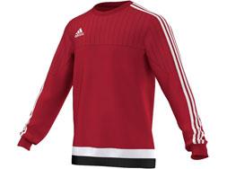 Das Adidas Tiro 15 Sweat Top als Sportbekleidung für die Vereinsaursüstung
