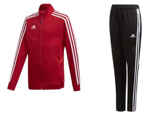 Die adidas Tiro 19 Trainingsanzug mit der Trainingsjacke sowie Trainingshose kaufen