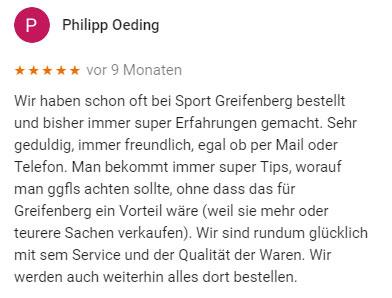 Erfahrungen mit Sport Greifenberg