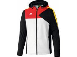 Das Erima Deutschland Kolllektion Premium One Hoodie in weiß/schwarz/rot und gelb