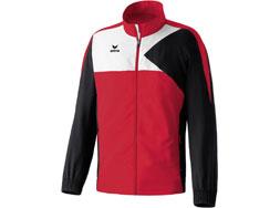 Die Erima Premium One Polyesterjacke als Trainingsjacke für den Polyesteranzug mit Herren und Damen Schnitt