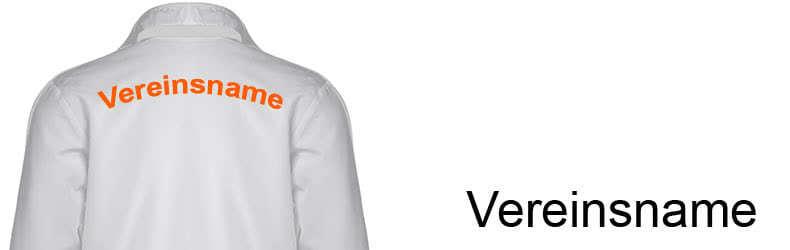 Trainingsanzug beflockung mit einem Teamnamen oder Vereinsnamen