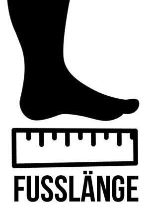 die Fußlänge für die Schuhgröße der Nike Fußballschuhe