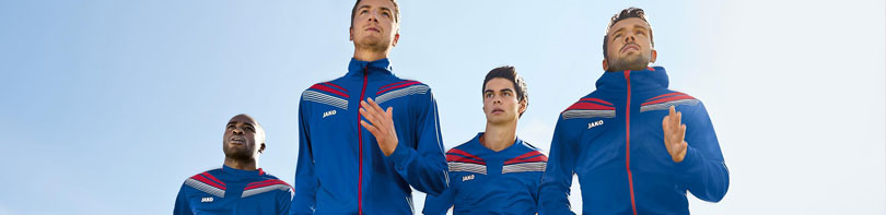 Jako Pro Teamline Sportbekleidung mit unterschiedlichen Produkten