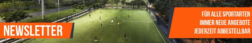 Sport Shop Newsletter Anmeldung für Trikots, Fußballschuhe oder Trainingszüge uvm