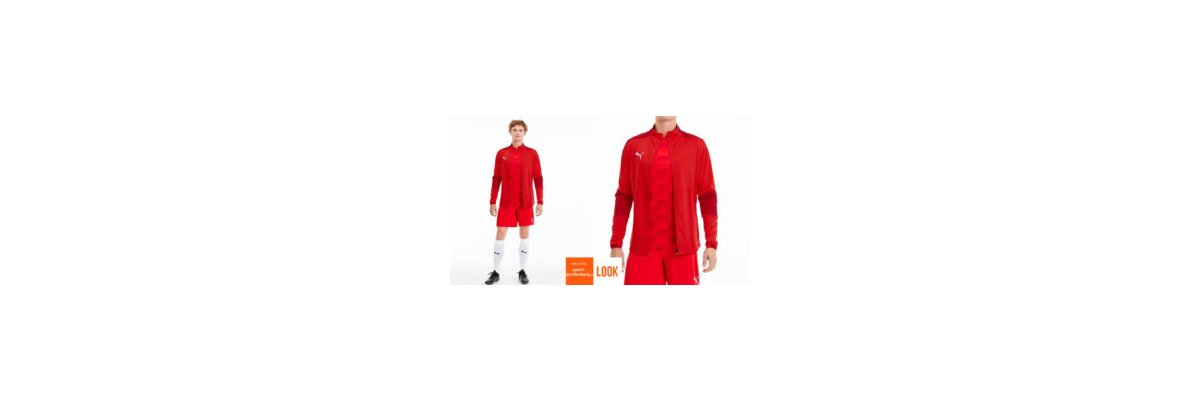 Puma Profi Trikot Jacket Set rot - Puma Trikot Jacket Set rot | Jacke | Short | Stutzen