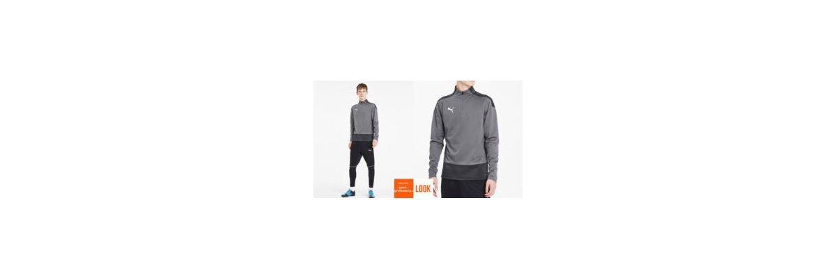 Puma Training Outfit Lang grau - Puma Training Outfit Lang grau | Zip Top | Trainingshose