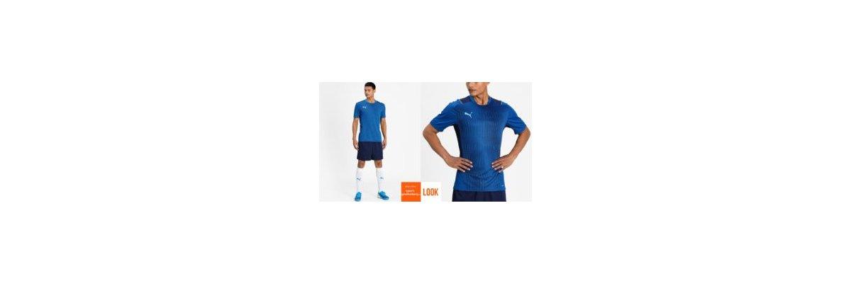 Puma Training Outfit teamCup blau - Puma Training Outfit teamCup | Training Jersey | Short
