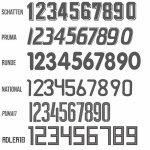Beschriftung mit Nummer/Initialen
