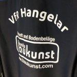 Beschriftung mit Vereinsname und Sponsor (einfarbig)