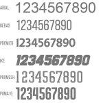 Taschen Druck mit Nummer/Initialen