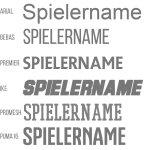Beschriftung mit einem Vereinsnamen