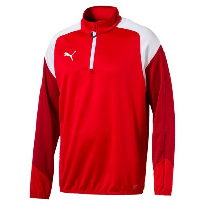 Puma Esito 4 1/4 Zip Training Top - puma red-puma white-chili pepp - Gr. l im Sport Shop