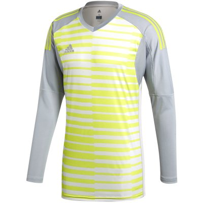 adidas Adipro 18 GK Trikot - light grey/grey one f17/semi solar yellow - Gr. m (Farbe: grün 2018 )