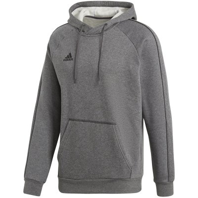 adidas Core 18 Hoody - dark grey heather/black - Gr. xl (Farbe: grau  )