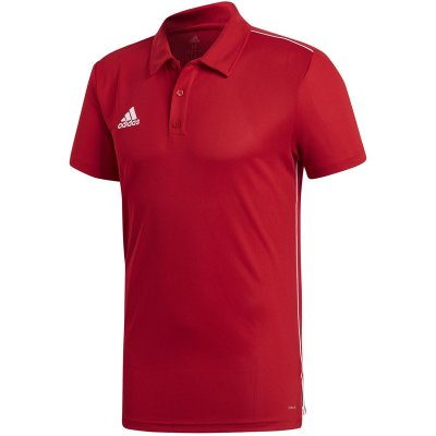 adidas Core 18 Polo - power red/white - Gr. l im Sport Shop
