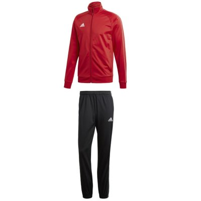 adidas Core 18 Polyesteranzug - power red/white - Gr. 3xl (Farbe: rot  )